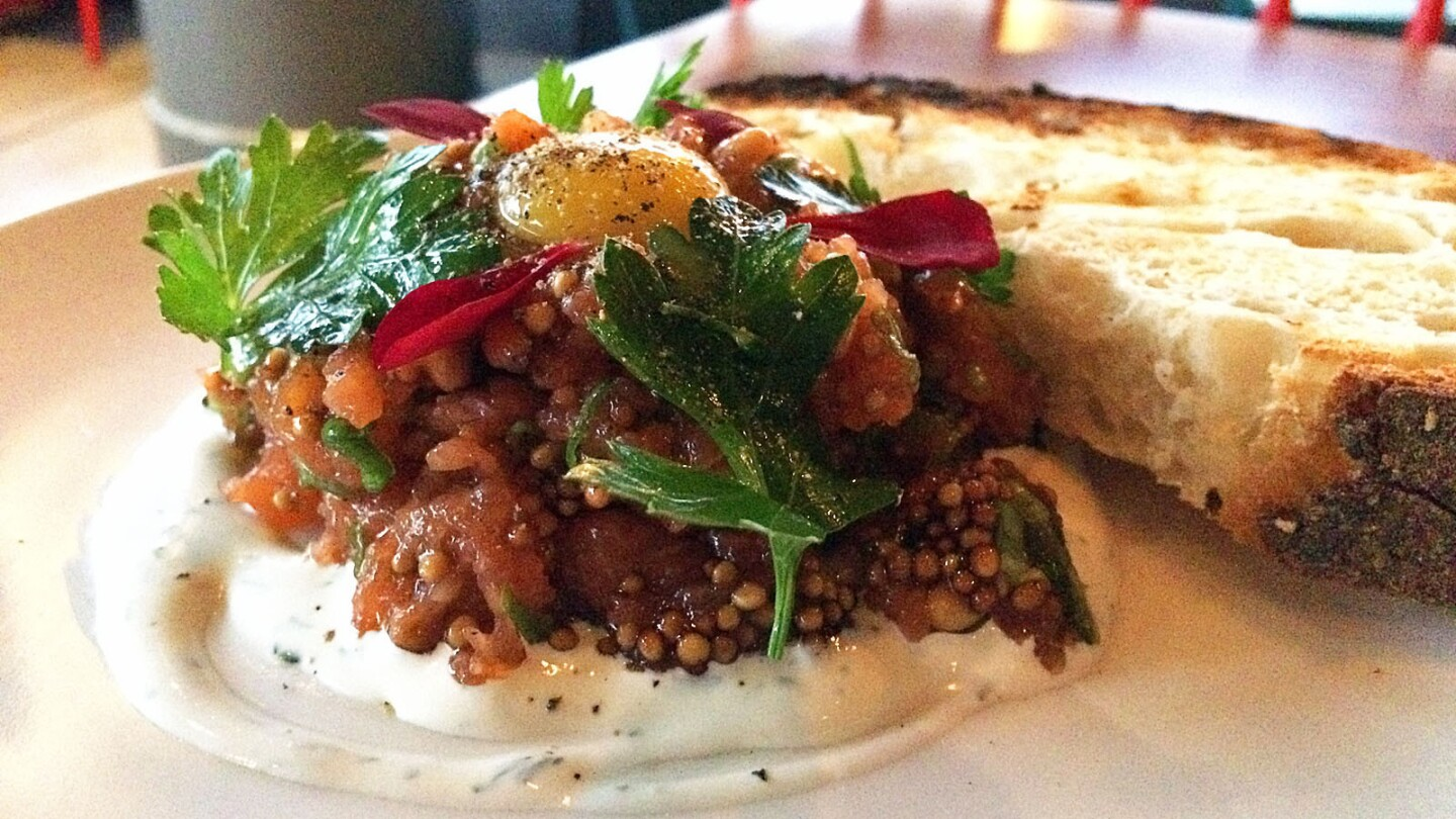 The salmon tartare at Catch and Release.