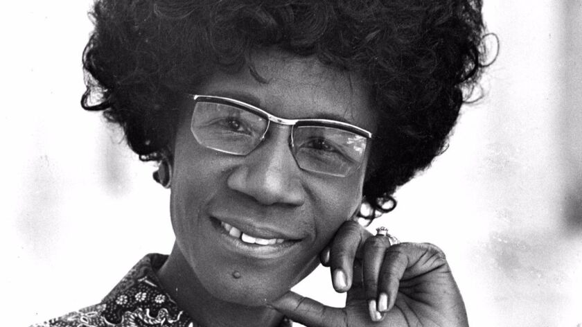 Shirley Chisholm shown in 1971.