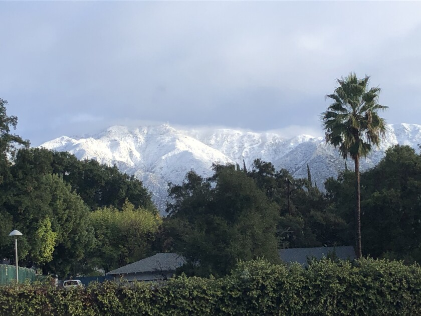You can only imagine the local stir this Dec. 26 snow caused in L.A.