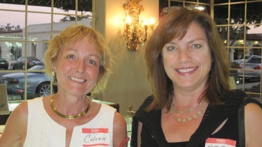 Colleen Freeman (RSF Jewelers), Karen Taggart (Shades of Light, who recently completed a significant design project for Rancho Valencia Resort  Spa)
