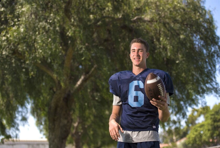 Corona del Mar sophomore John Humphreys, 15, is the Daily Pilot Football Player of the Week. Photo t