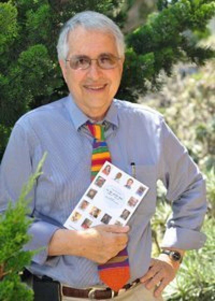 Dr. Edward A. Siegel with his book. Photo/Jon Clark