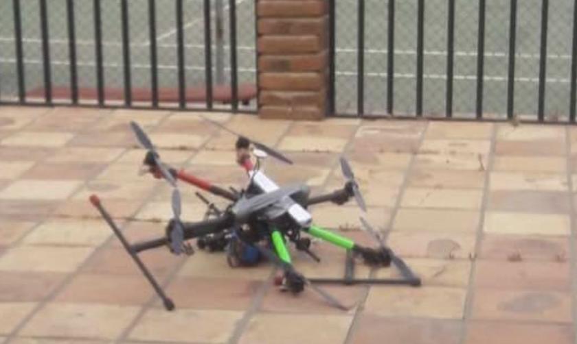 En el dron fueron adheridas dos granadas de fragmentación.