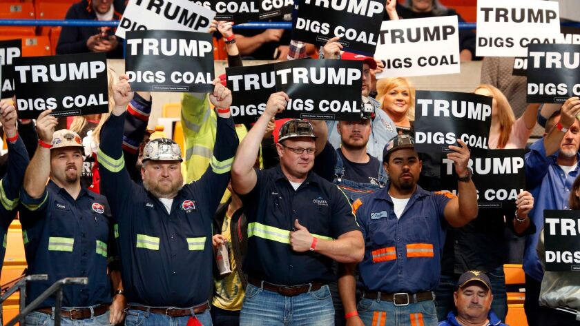 Support from coal miners