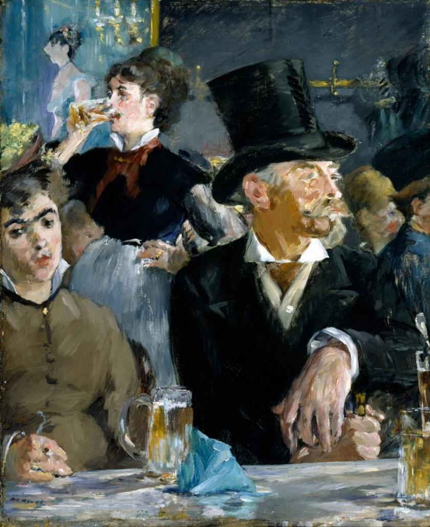 """""""The Cafe-Concert,"""" about 1878 by Edouard Manet, at the Getty Museum."""