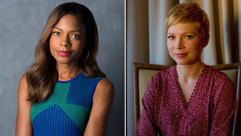 Naomie Harris, left, and Michelle Williams