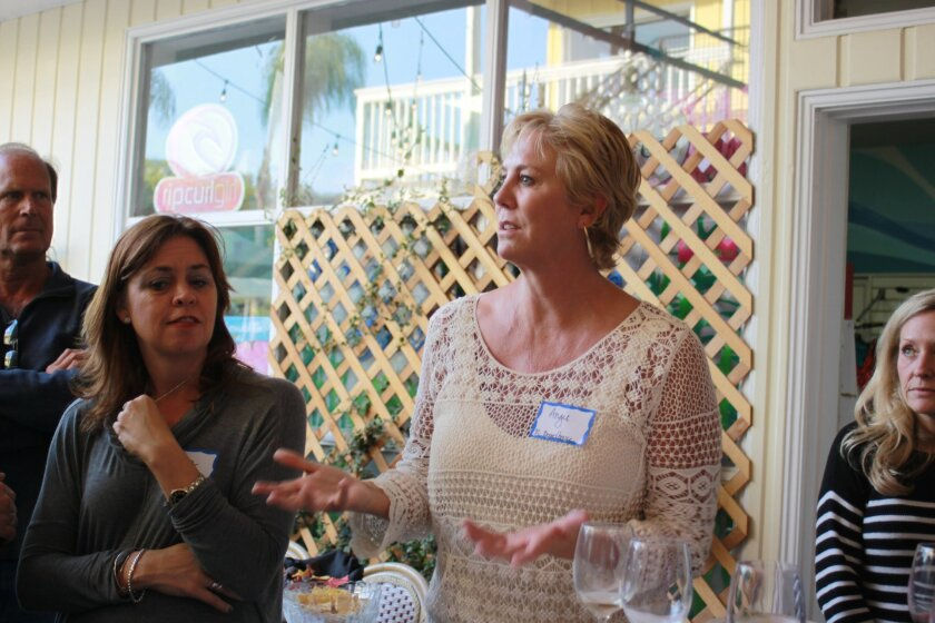 La Jolla Shores Business Association member Angie Preisendorfer said her goal is redirect Shores beachgoers to the shops, restaurants and services near and along Avenida de la Playa.