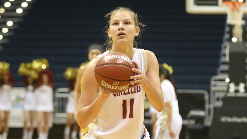 Amber Schmidt posted a double double against Serra.