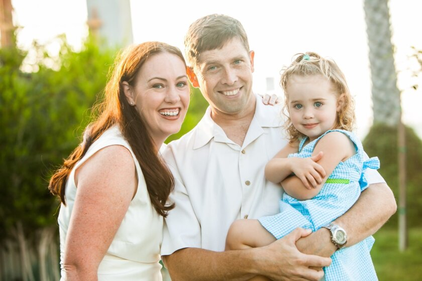 Craig Williams with wife, Kjersti, and daughter Claire.
