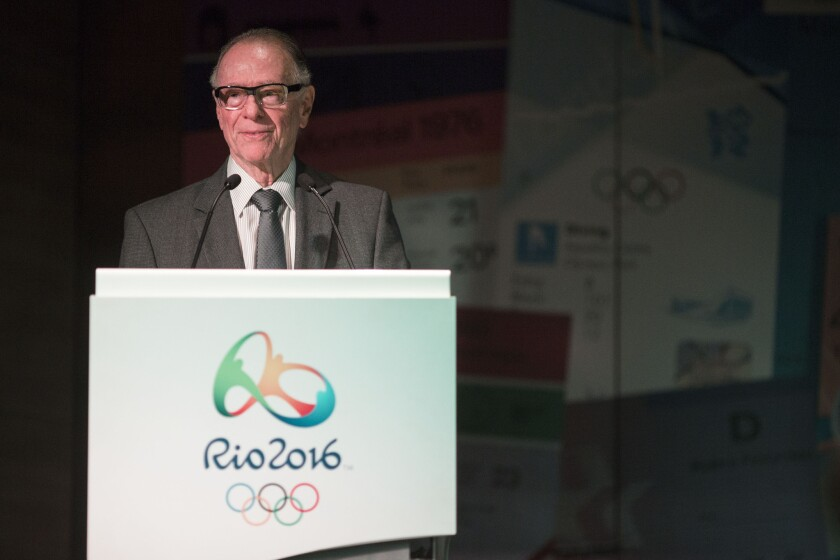 Lead organizer Carlos Nuzman speaks at a May 20 news conference at Rio 2016 headquarters.