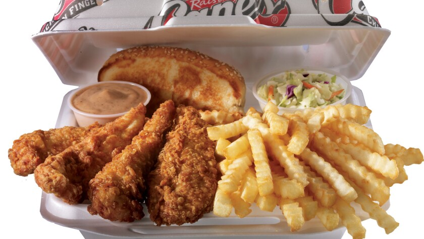 Raising Cane's, the Louisiana-based chicken finger restaurant chain, is opening a location in Costa Mesa on Thursday.