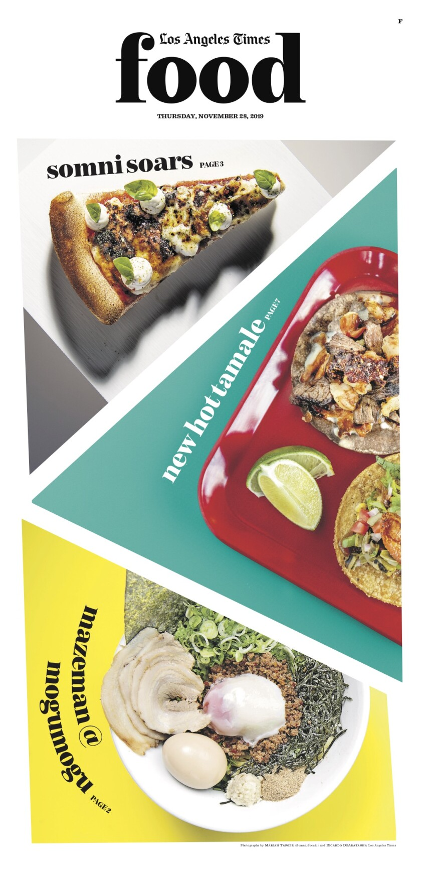 Los Angeles Times Food cover, November 28, 2019