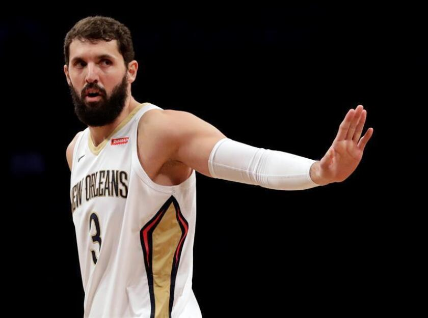 New Orleans Pelicans forward Nikola Mirotic of Real Madrid in the first half of the NBA basketball game. EFE