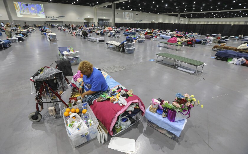 Convention Center homeless shelter