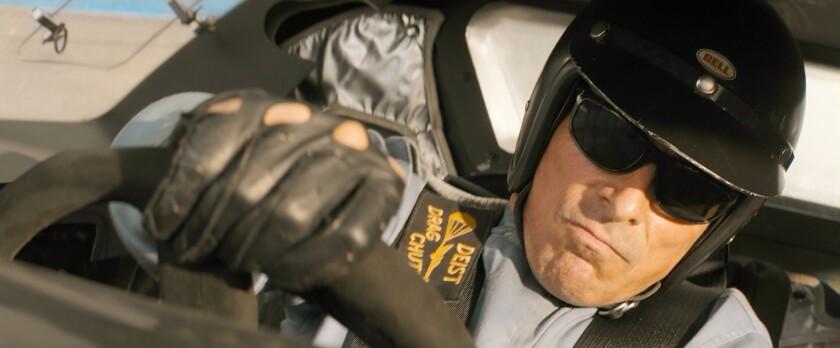 Christian Bale in a scene from 'Ford V. Ferrari'