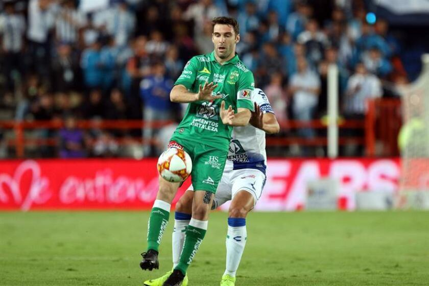 Mauro Boselli playing with Leon in a match between Pachuca and Leon, at the Hidalgo stadium in the city of Pachuca, Mexico. Nov. 24,2018 EPA-EFE FILE/David Martínez Pelcastre