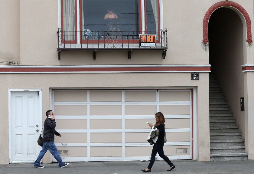 Under the Fair Housing Act, if a building does not already have an elevator, it has no duty to install one. Above, an apartment for rent in San Francisco.