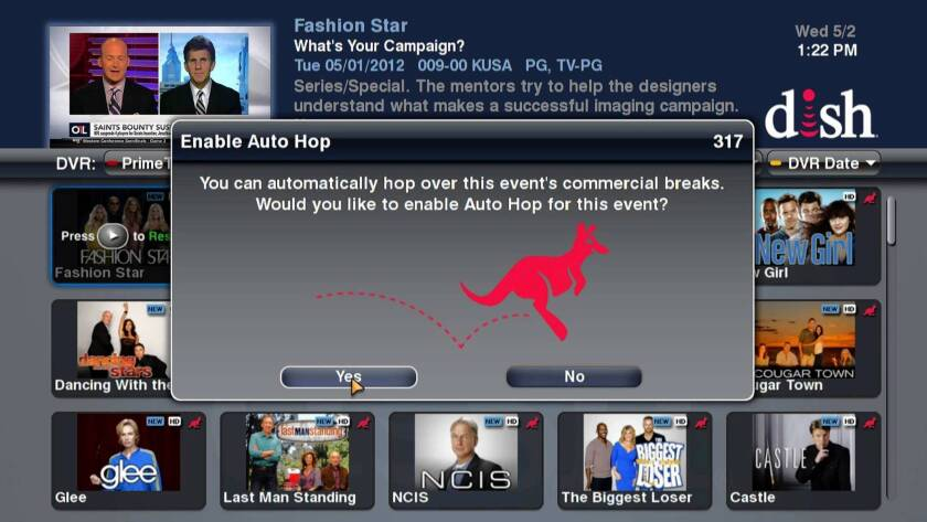 Dish Network's AutoHop feature enables customers to skip over commercials.
