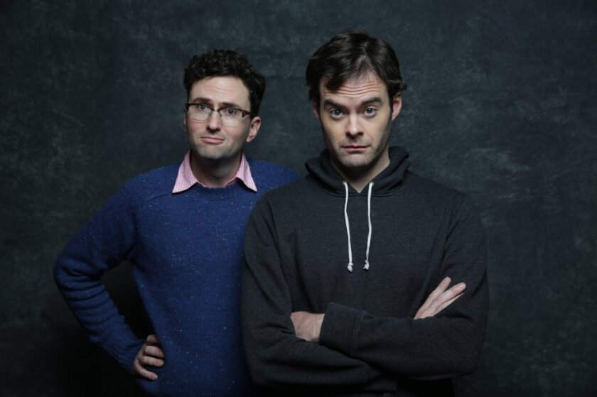 "Actor Bill Hader and director Craig Johnson from ""The Skeleton Twins,"" which took the prestigious Waldo Salt screenwriting prize."