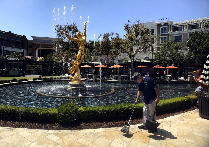 The fountains at the Americana at Brand.