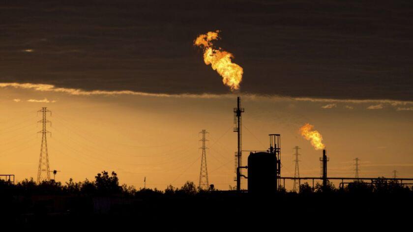 Oil complex near El Tigre, Venezuela