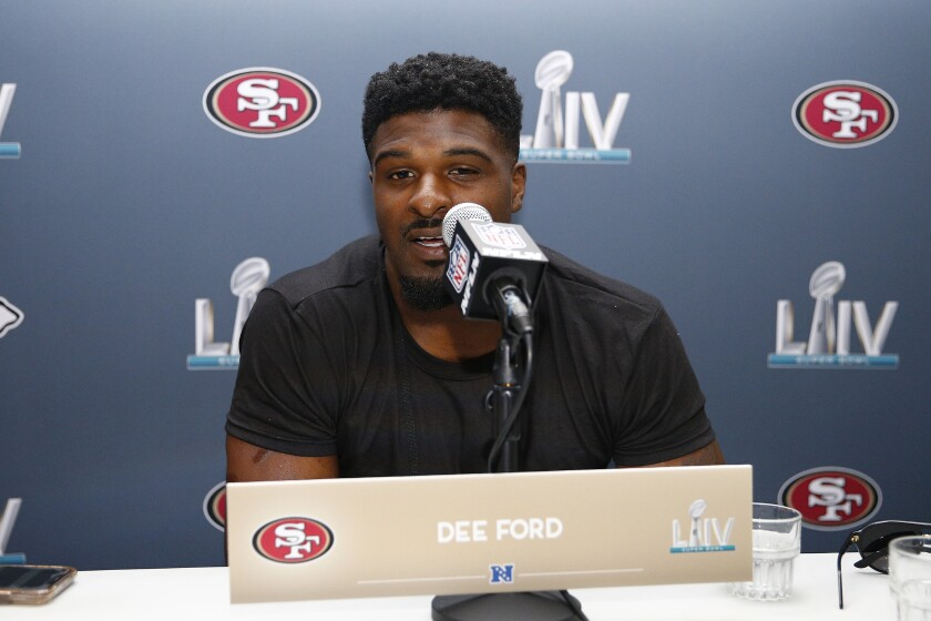 The 49ers' Dee Ford discusses facing his former team, the Chiefs, in the Super Bowl.