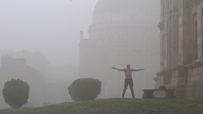 New Delhi struggles with heavily polluted air, India - 08 Nov 2017
