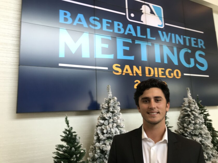 Blaise Maris, grandson of baseball great Roger Maris, came to the Winter Meetings this week to network and figure out where his future might be in the game.