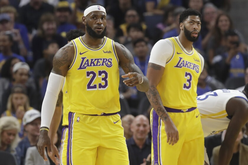 LeBron James (23) and Anthony Davis (3) could become the next great tandem to lead the Lakers to a title.