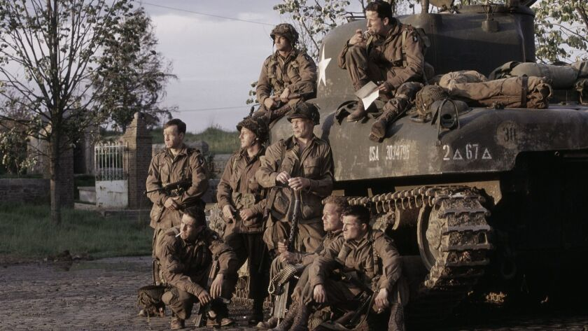 """A promotional shot for the 10-part HBO series """"Band of Brothers."""""""