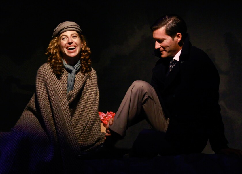 Tanna Frederick and Mike Falkow in 'Train to Zakopané' at Edgemar Center for the Arts