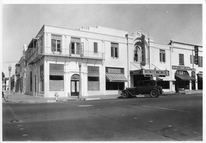 The Granada Theater, pictured in 1929, opened in La Jolla in March 1925.