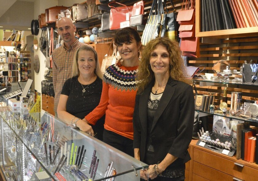 The staff at Warwick's pen and fine paper department in La Jolla