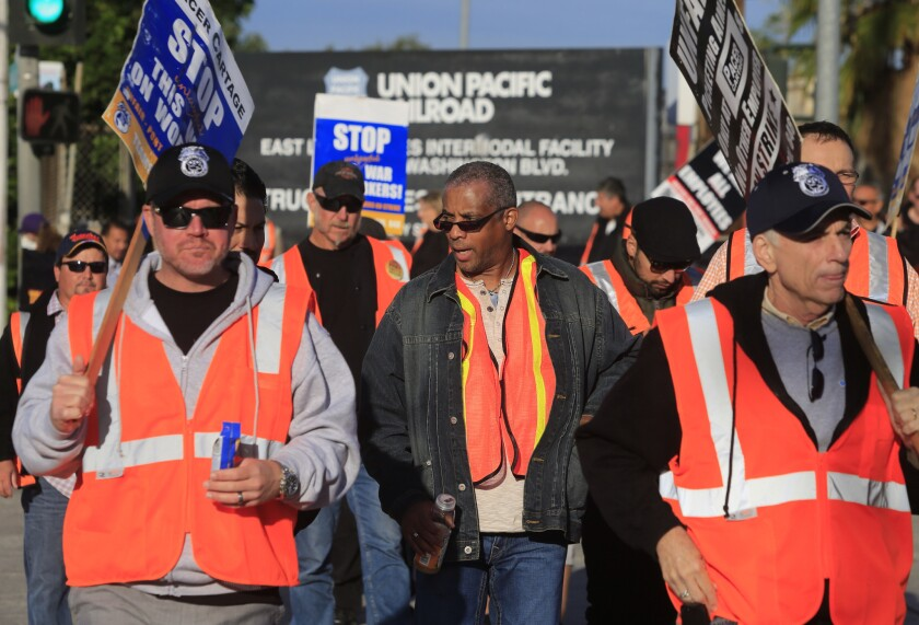 Independent truck drivers participated in a port-focused strike in November.