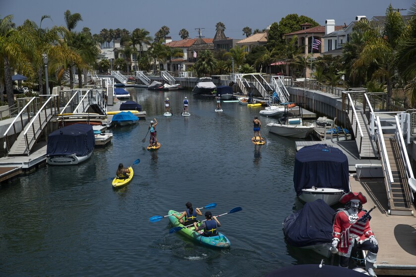 Naples Canals in Long Beach