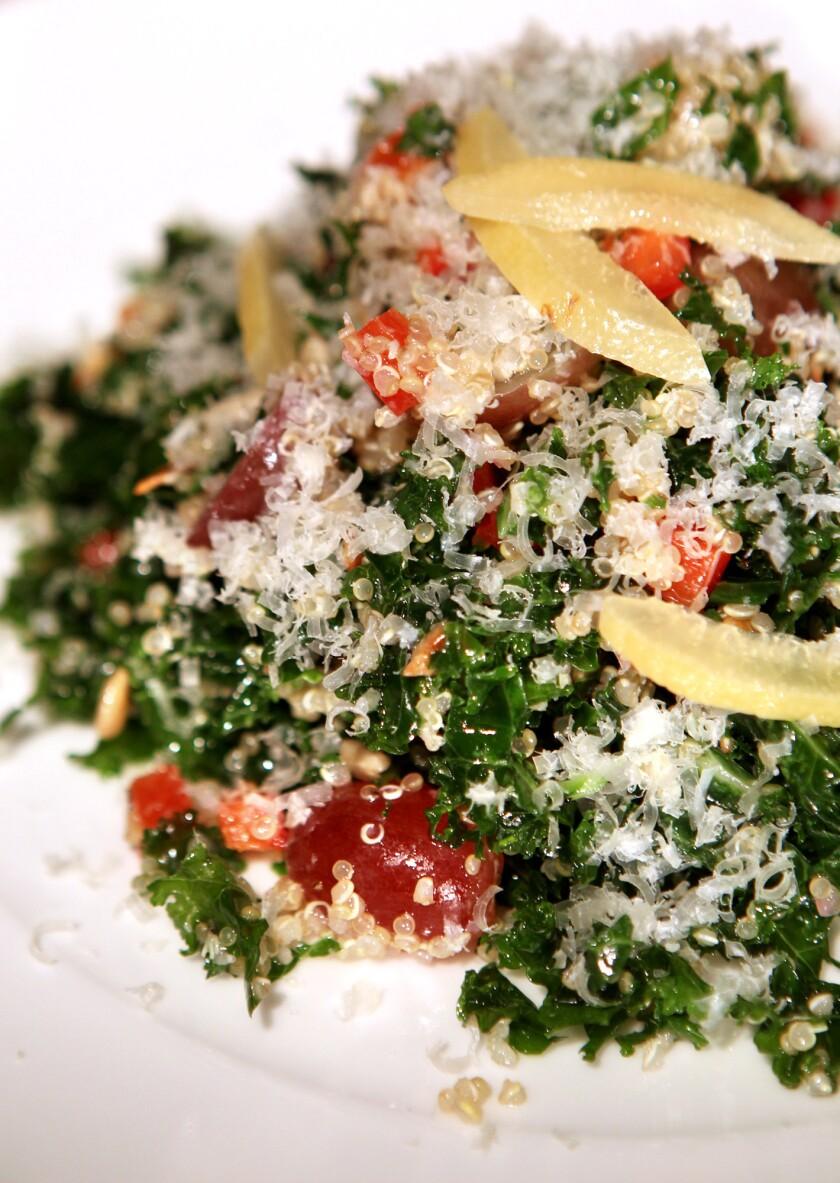 Kale and quinoa salad from La Grande Orange Cafe in Pasadena. Read the recipe »