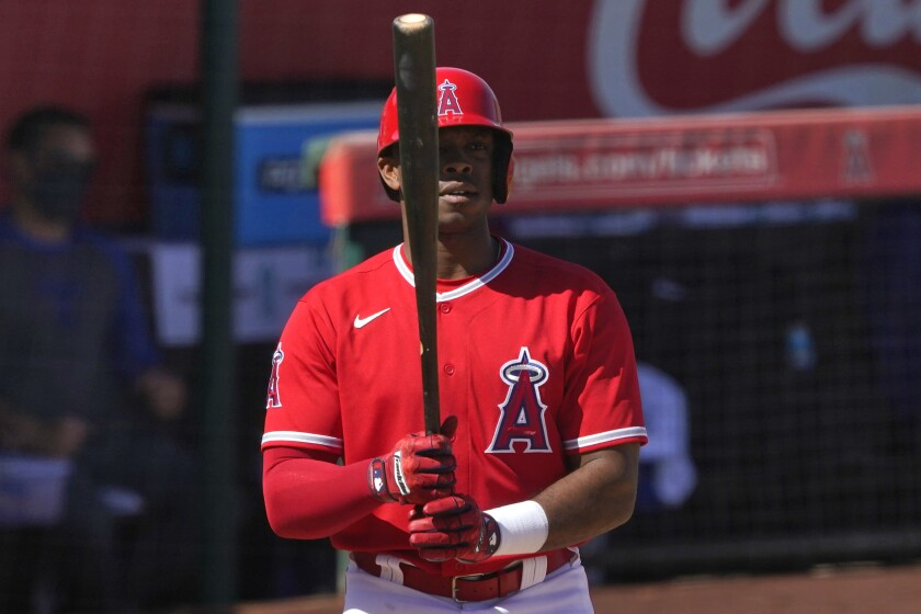 Angels left fielder Justin Upton against the Texas Rangers.