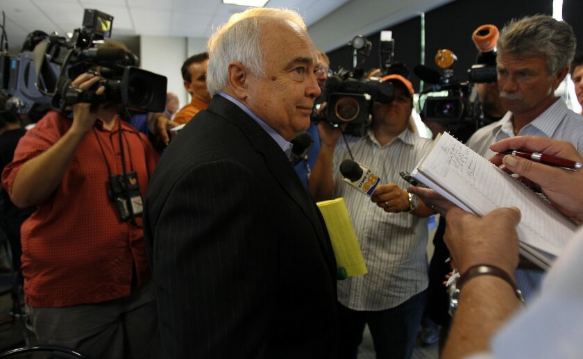 Ron Fowler and the San Diego Padres new ownership group spoke at a news conference at Petco Park on Wednesday, August 29, 2012.