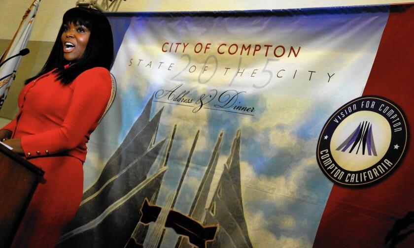 Compton Mayor Aja Brown