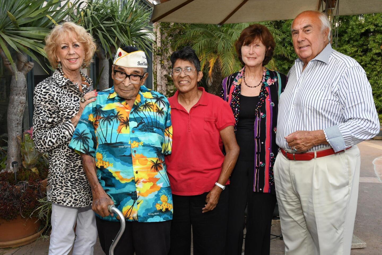 Jeri Rovsek, Ray Chavez (oldest Pearl Harbor survivor), Kathleen Chavez, Angela Holas, Richard Rovsek