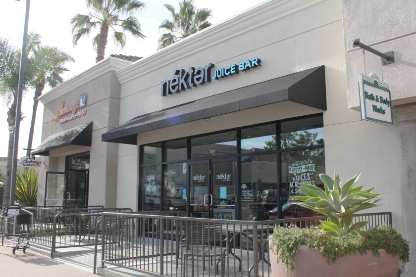 The new Nekter location in Del Mar Highlands Town Center.