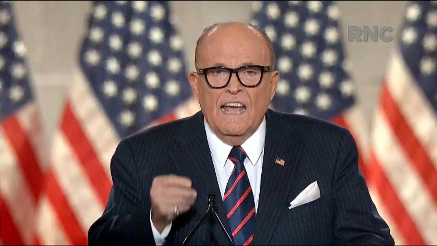 Giuliani Attacks Black Lives Matter At Rnc Los Angeles Times
