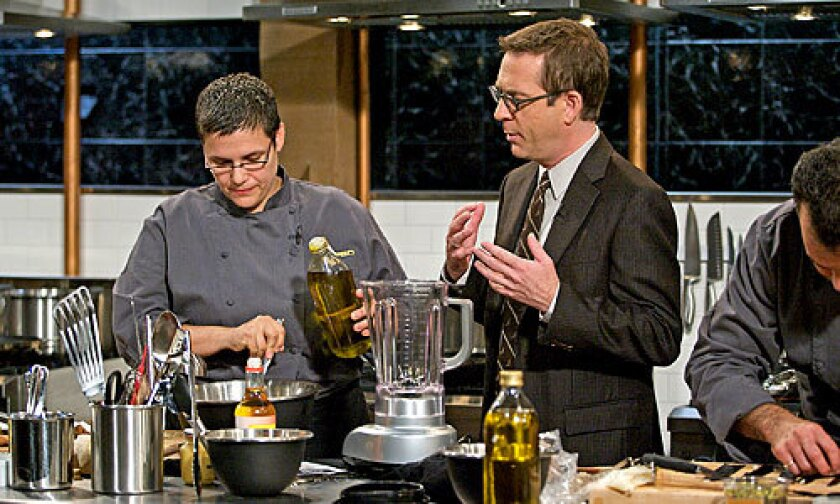 "NEW HOST: Ted Allen, a former guest judge on ""Top Chef,"" now has his own gig at Food Network, hosting the new show ""Chopped."""