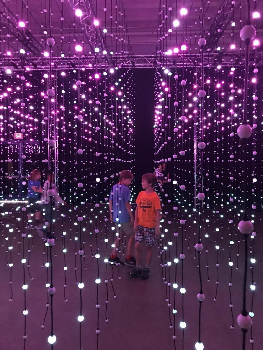Submergence, a room-size light and sound installation by Squidsoup, UK-based creators of 'immersive experiences in digitally augmented spaces'