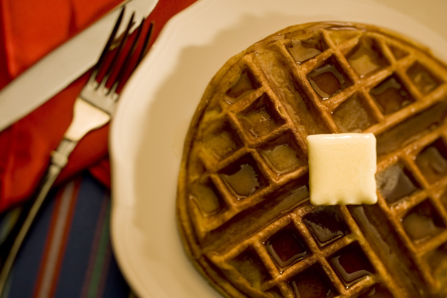 Light and airy. Recipe: Sour cream waffle