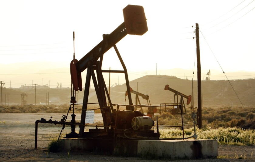 Oil rig pump jacks work the oil fields near the town of Maricopa located in the oil rich hills West of Bakersfield between Maricopa and Taft. A recent study by USC predicts that a Monterey Shale boom could add $4.5 billion in tax revenue to state coffers and 2.8 million California jobs by 2020, and would turn the state into the nation's leading oil producer.