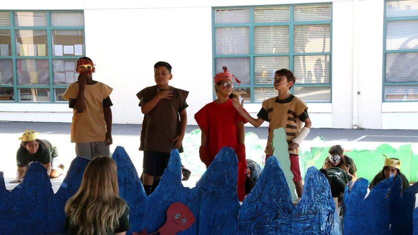 Student learned acting and preforming during this years Learn Grow Thrive program and they acted out