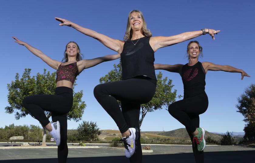 Jazzercise family: Skyla Nelson, Judi Sheppard Missett and Shanna Missett Nelson