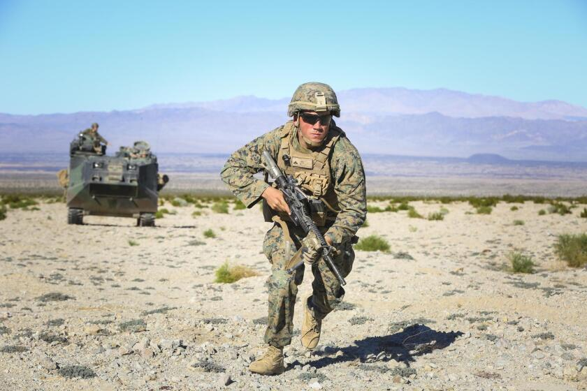 Marines have been injured during a training exercise at the base at 29Palms in the desert of San Bernardino County.