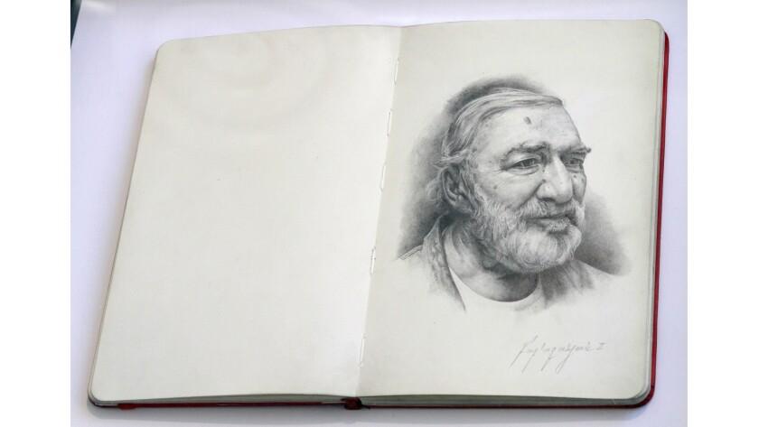 """Portrait of Vladimir Atanian,"" 2015, graphite on paper by Alex Babajanyan II."